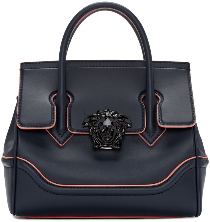 Versace - Navy Medium Medusa Bag