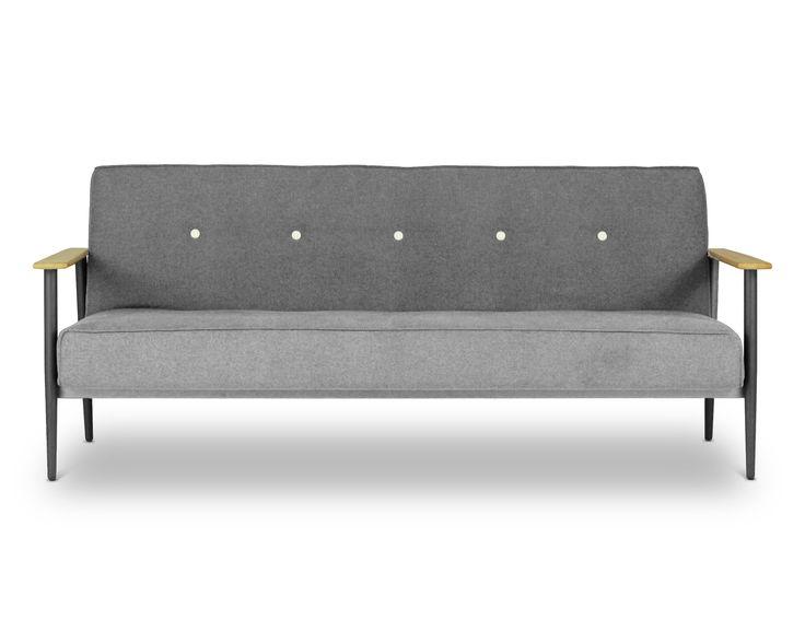 Vita - 3 Seat Sofa Bed - Napa Light Grey - Lounge Lovers