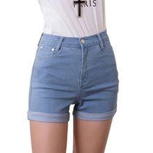 2014 Новая Мода женские джинсы Летом Высокой Талии Стрейч Джинсовые Шорты Тонкий Корейских Случайные женские Джинсы Шорты Горячей Плюс размер(China (Mainland))