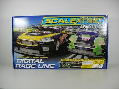 Scalextric Digital Race Line 1 32 Slot Car Set Jaguar XKR C1275T | eBay