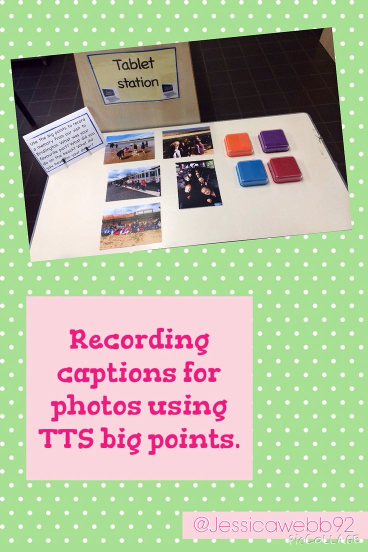 Recording memories and captions for photos from our recent trip to the beach into TTS big points.