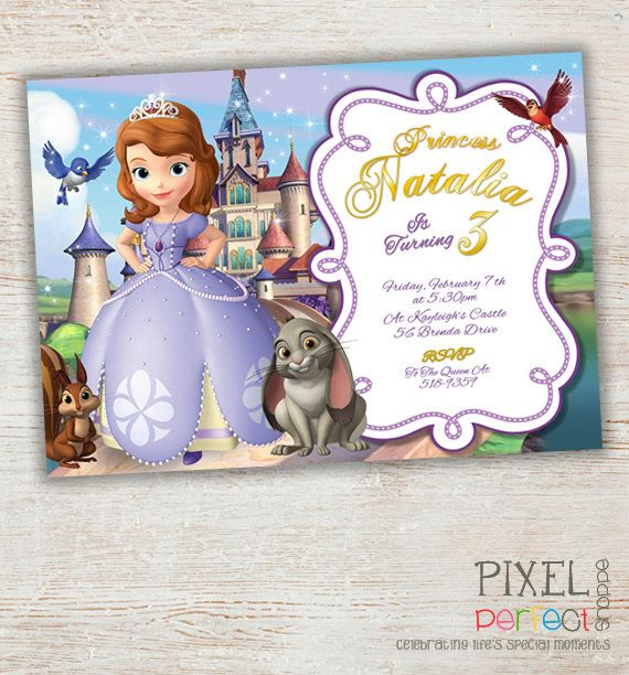 Sophia The First Invitation Sophia The First by PixelPerfectShoppe, $6.00