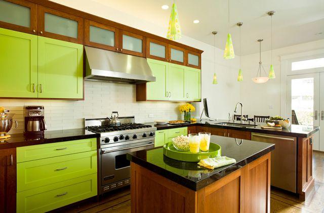 Очень яркая зеленая кухня | bright colorful green kitchen