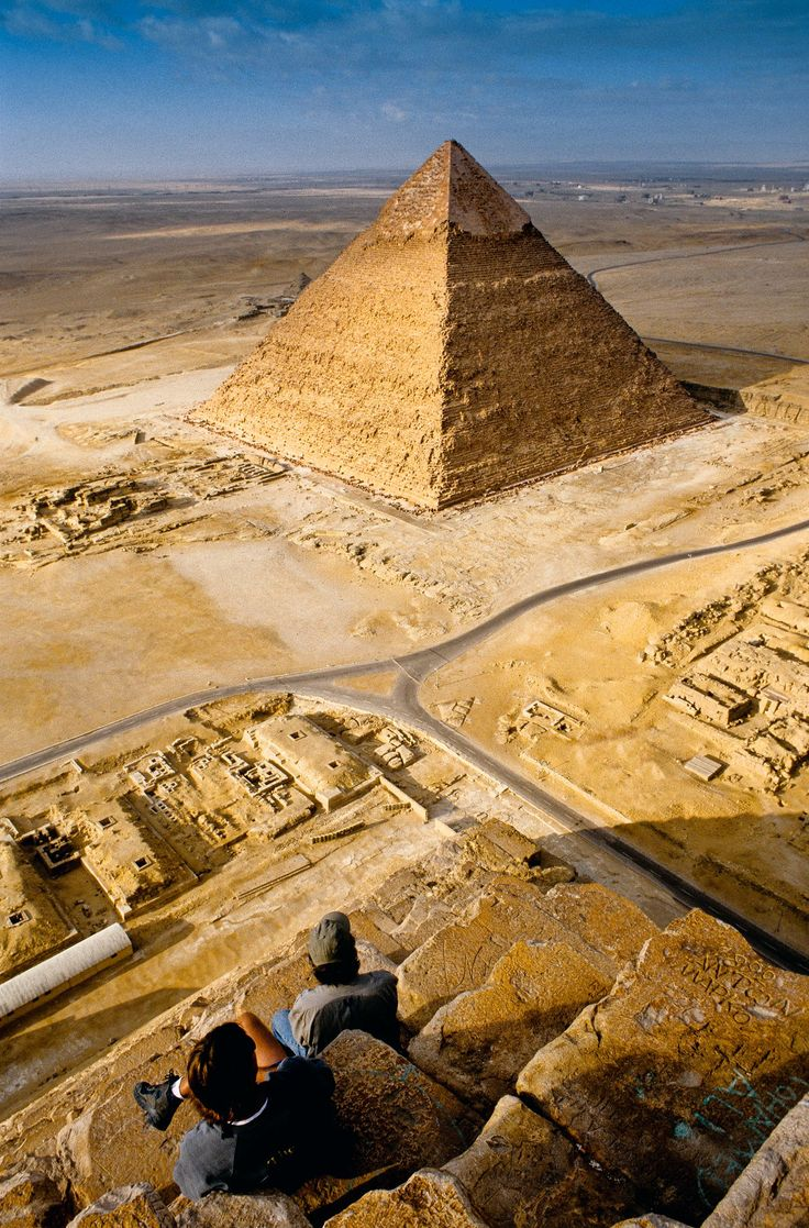 Pyramid of Khafre, Giza, Egypt. I'd love to see this, but it might be nice to go when there's an actual functional government.