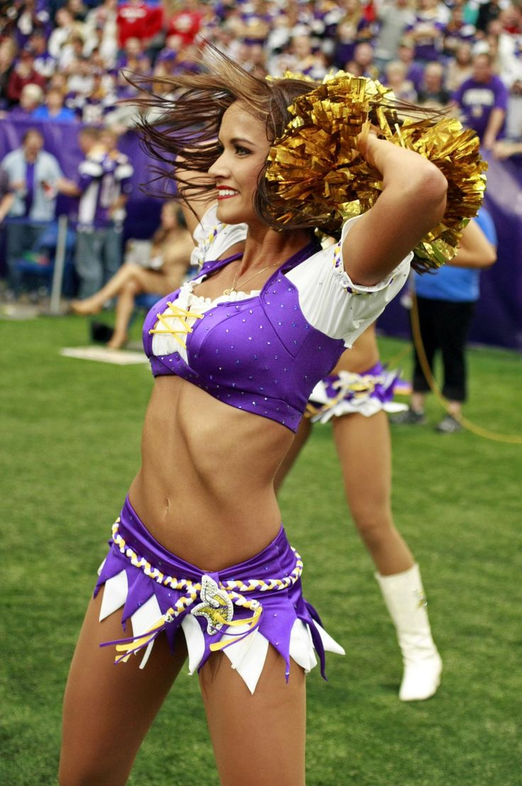 Sep 23, 2012; Minneapolis, MN, USA; Minnesota Vikings cheerleader Holly performs during the game with the San Francisco 49ers at the Metrodome. Vikings win 24-13. Mandatory Credit: Bruce Kluckhohn-US PRESSWIRE