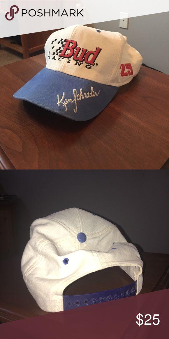 Vintage Bud Racing Ken Schrader Hat lightly worn, in very good condition, vintage Accessories Hats