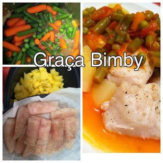 Bimby Truques & Dicas: Cozinhar em pirâmide 3 em 1 – Lombos de pescada co...