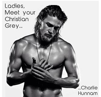 JAX from Sons of Anarchy ... Is now Christian Grey ... Need I say more???