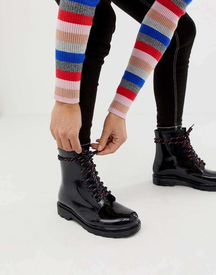 727f3f67f22 Asos Design ASOS DESIGN Global hiker lace up rain boots | Teen ...