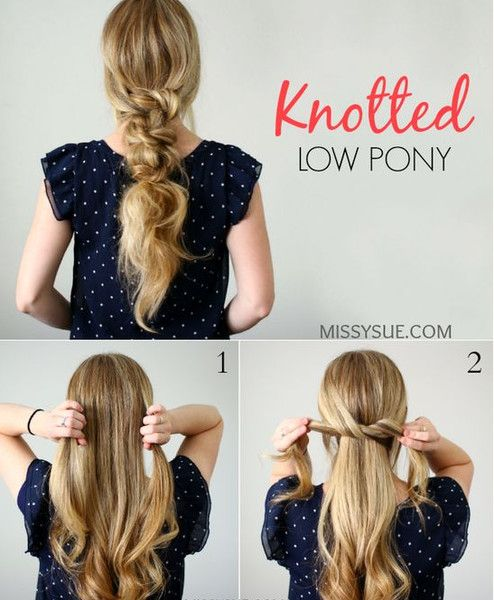 Knotted Ponytail - Messy Pinterest Braids We Love - Photos