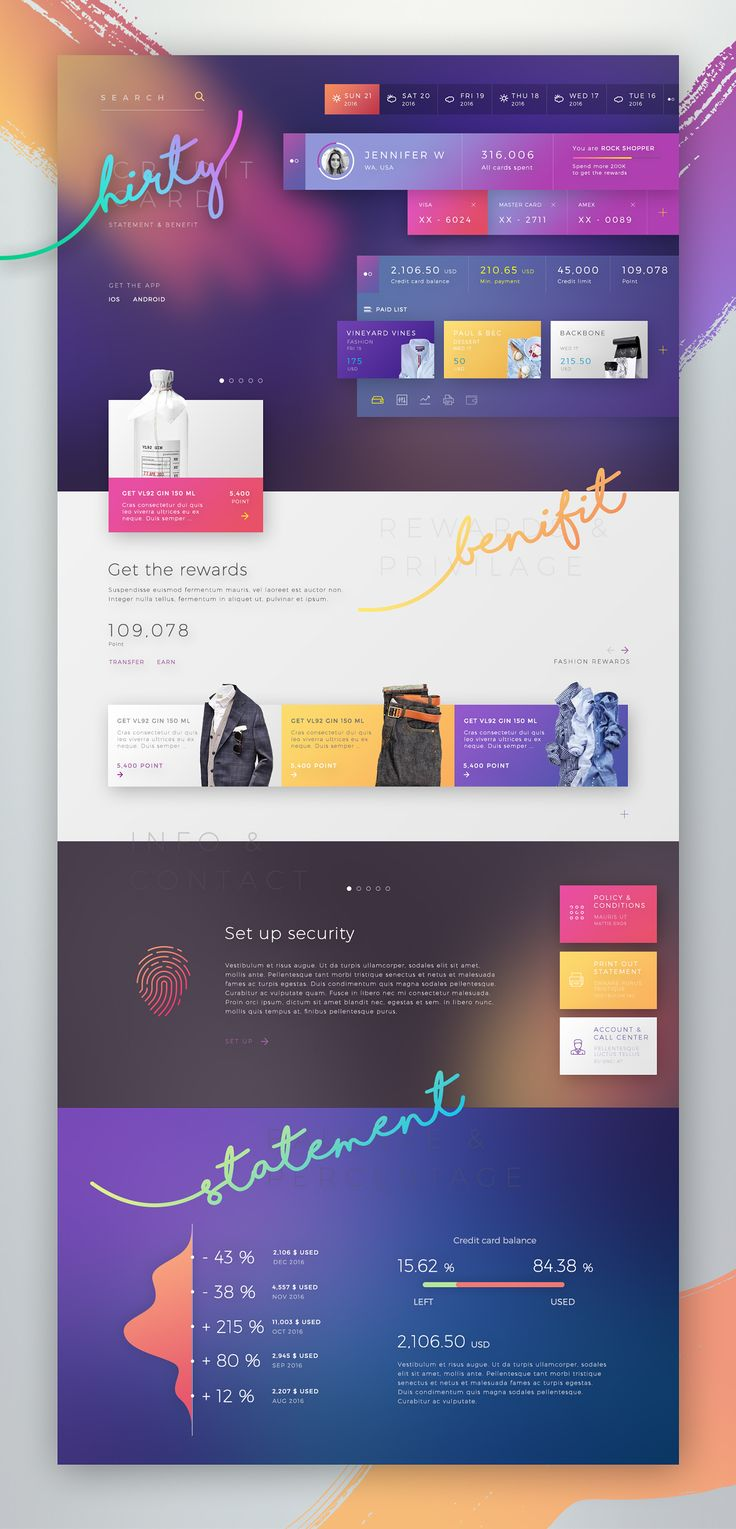 Credit Card Statement Concept on Behance
