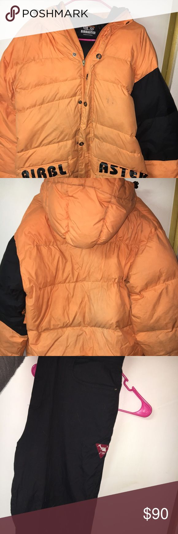 Snowboarding jacket and pants Used snowboarding jacket and pants. Not sure what the brand is for the jacket, but the pants are Oakley. XL pants. Jacket I'd say is an XL as well Jackets & Coats
