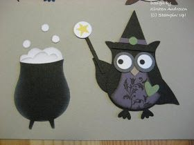Owl witch and cauldron both made with owl punch.