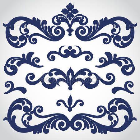 Vektör Victoria tarzı süsleme ile ayarlayın. süslü elemanları tasarımı için. tasarımcıları için araç. düğün davetiyeleri, tebrik kartları, giyim ve çanta için Dekorasyon dekorasyon için kullanılabilir