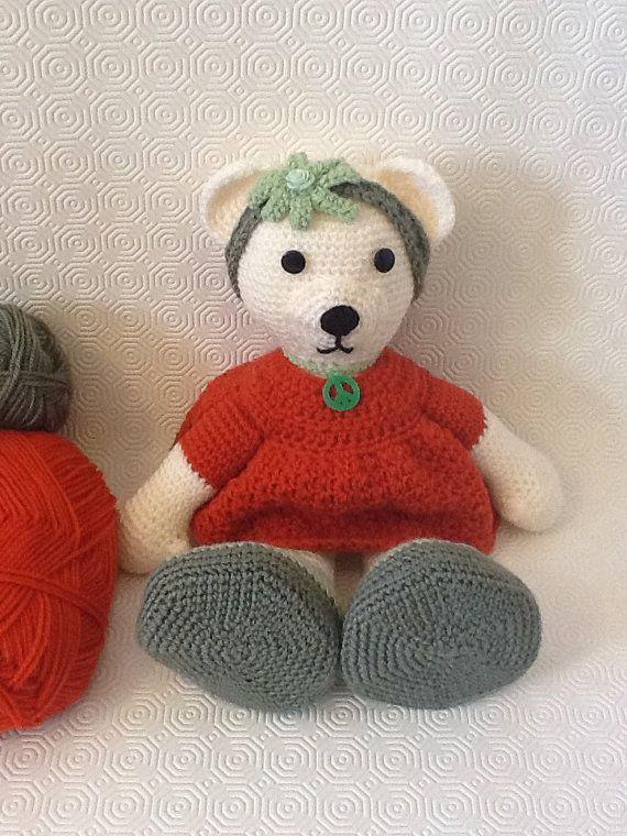 NEW  Amigurumi bear girl by EvalestAmigurumi on Etsy