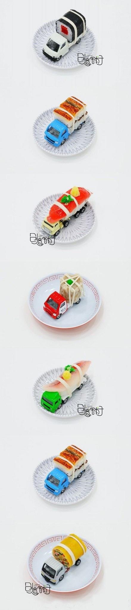 truck sushi art