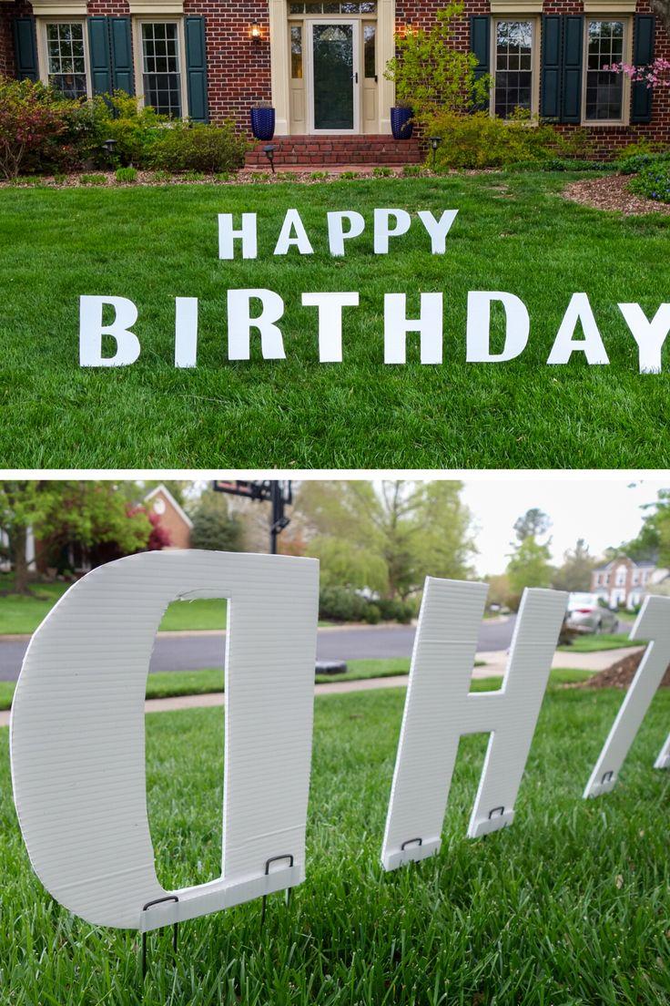 DIY Birthday Yard Signs South Lumina Style in 2020