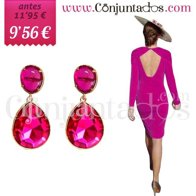 Pendientes de cristales en dos tonos de fucsia (modelo exclusivo) ★ ahora solo 9'56 € ★ Cómpralos en https://www.conjuntados.com/es/pendientes-de-cristales-en-dos-tonos-de-fucsia-modelo-exclusivo.html ★ #rebajas #sales #soldes #rabatte #rebaixes #deskontuak #vendas #sconti #pendientes #earrings #conjuntados #conjuntada #joyitas #lowcost #jewelry #bisutería #bijoux #accesorios #complementos #moda #eventos