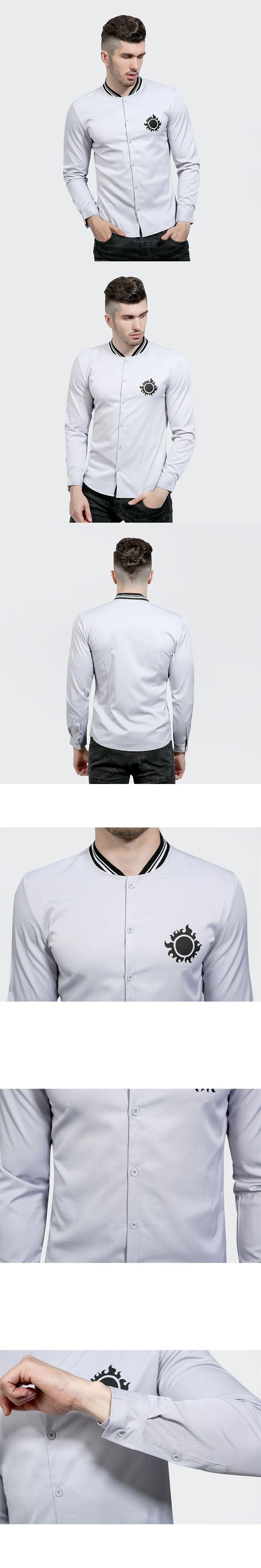Luxury Brand Men Shirt Chemise Homme 2017 Fashion Design Long Sleeve Mens Dress Shirts Casual Stylish Slim Fit Camisas Hombre