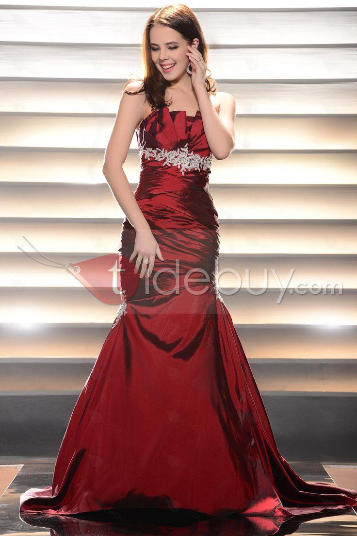 新しいスタイルマーメイドライン恋人ノースリーブ床長さイブニングドレス
