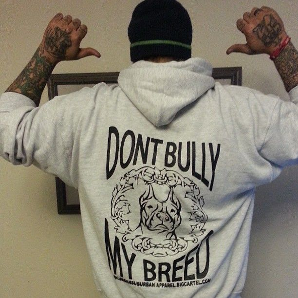 """""""DONT BULLY MY BREED"""" (BACK PRINTED) Hoodies➜ More Colors - Urban Suburban Apparel"""