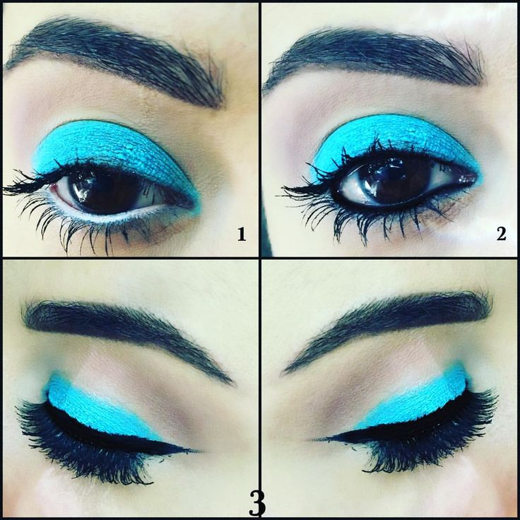 Going from day to night with one eyeshadow. Number 1 is washed eye with white waterline , two is the same thing with black water line and for the last one to add a bit of drama I added eyeliner and falsies. #innocentturquoise by #lorealparis #muod #makeupartist #makeupjunkie #beautyblogger #lovemakeup #sydney #makeup #instamakeup #eyeliner #makeupaddict