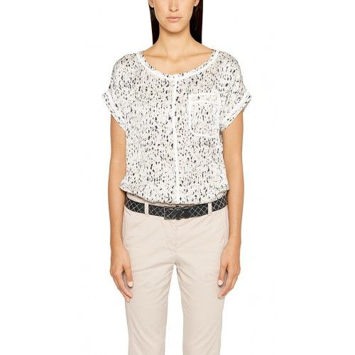 Marccain Sport - blouse - ES 51 13 W62 Col190 - zwart wit