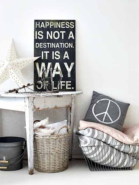 #justenjoylife Quotes are great way to add interest point to any place in a room.