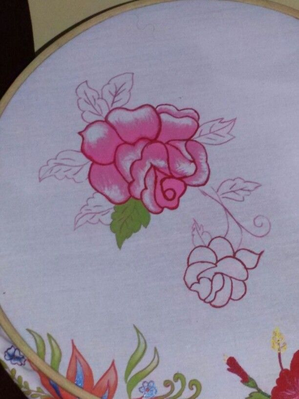 Fabric painting on working