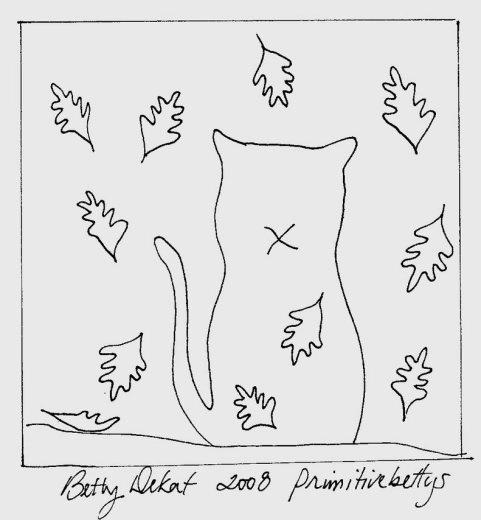 """Free """"Falling Leaves"""" pattern from Betty DeKat.Doodles Free, Doodle Patterns, Doodles Pattern, Crafts Ideas, Punch Pattern, Punch Needle, Seasons Stitchery, Betty Dekat, Fall Seasons"""