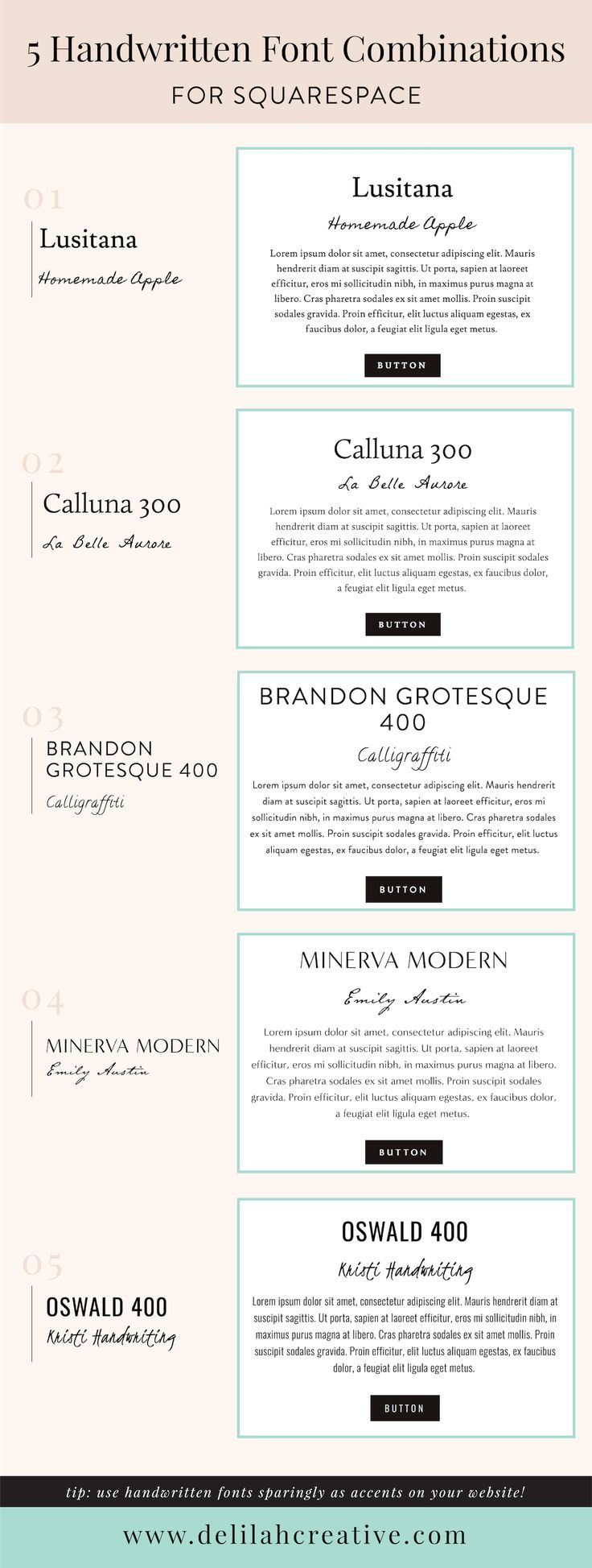 286 Best Typography Images On Pinterest Graphics And Austin Slip Minerva Pink Handwritten Font Combintations For Squarespace We Absolutely Love The Look Of Using Fonts