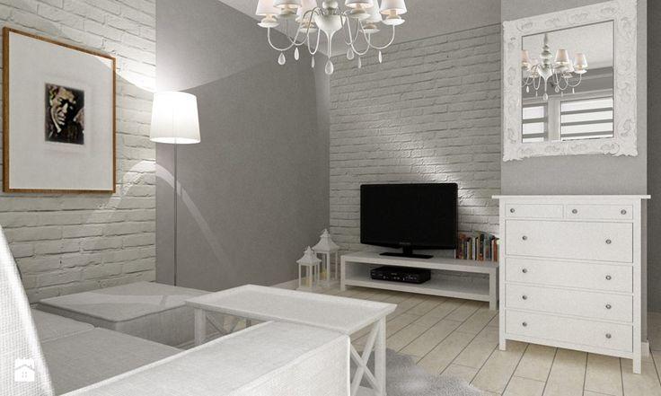 """metamorfoza kawalerki """"mała prowansja"""" - Salon, styl prowansalski - zdjęcie od Grafika i Projekt architektura wnętrz"""