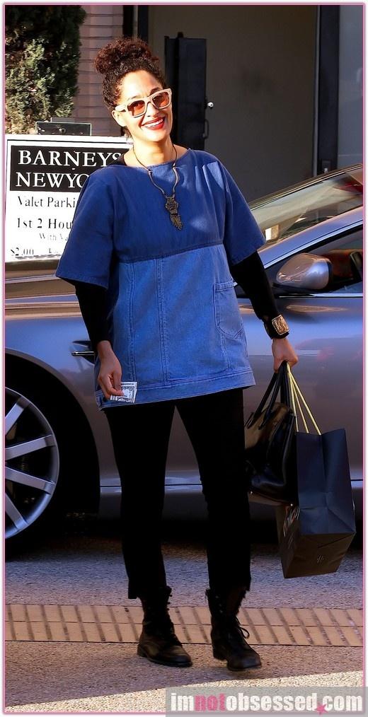 Tracee Ellis Ross shopping at barney's new york