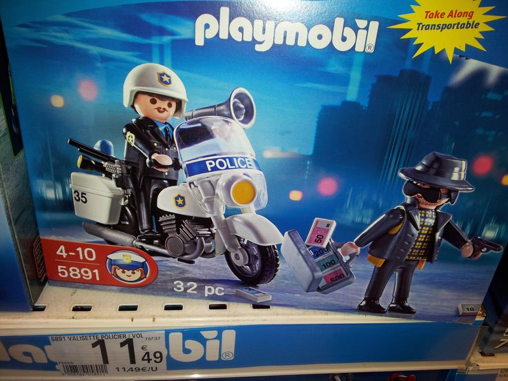 Moto police playmobil Auchan : 11, 49 €