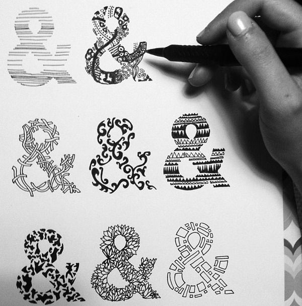 #Ampersand Study — an exploration of display ampersands based off of #Helvetica bold. #sketching #design #typography