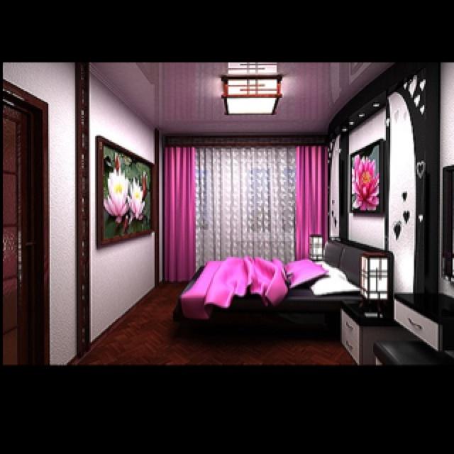 pink and black room super cute beadroom pinterest