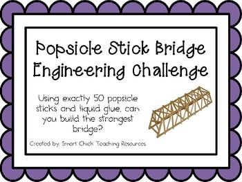 Popsicle Stick Bridge: Engineering Challenge Project