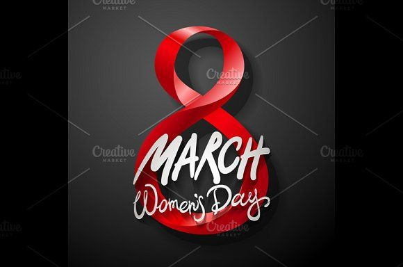 color. March 8. women's day, vector. by Rommeo79 on @creativemarket