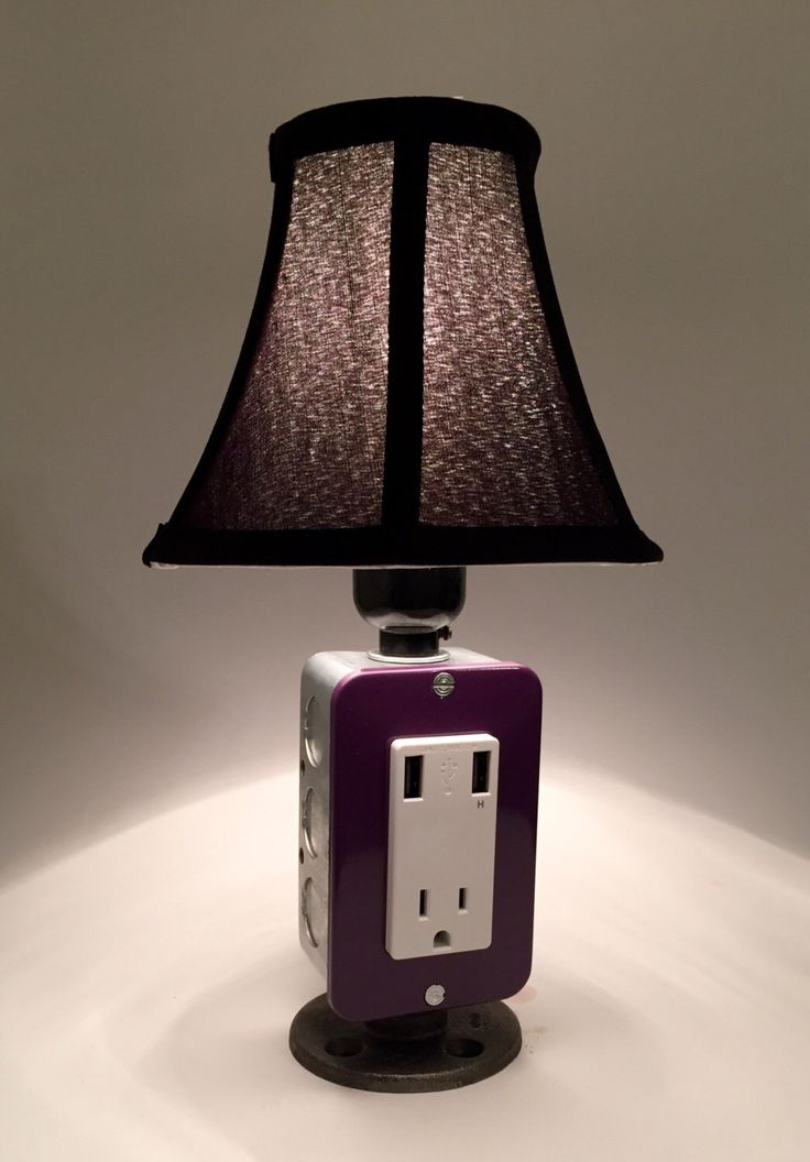 Mini lamp with usb charging station industrial lamp por bosslamps