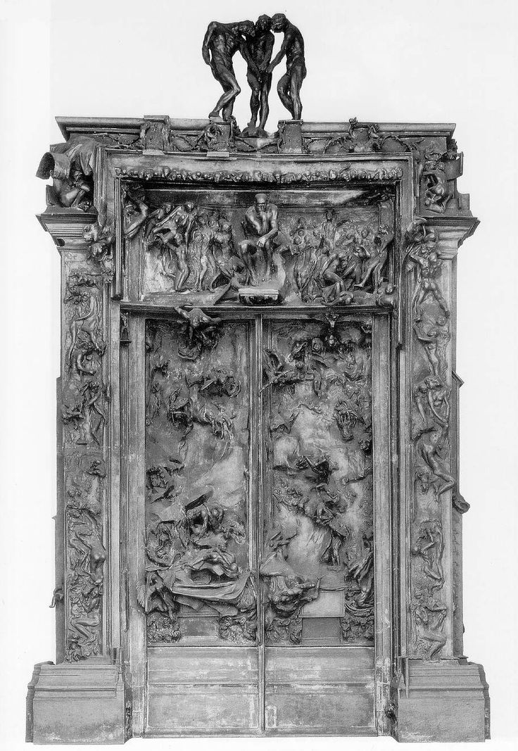 The Gates of Hell a set of doors sculpted by Francois-Auguste-Rene Rodin; look close and youu0027ll see the  ancestor  of Rodinu0027s most famous sculpture. & 90 best Rodin images on Pinterest | Sculptures Art sculptures and ... pezcame.com