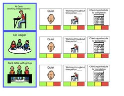 Schedules, Behavior Charts & Task Checklists - Tally chart for student who has difficulty being in his/her designated area or following one's schedule.. a timer and choice list was used with t his chart. - See more at: http://www.victoriesnautism.com/