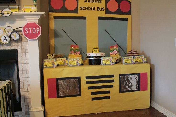 School Bus Desert Table