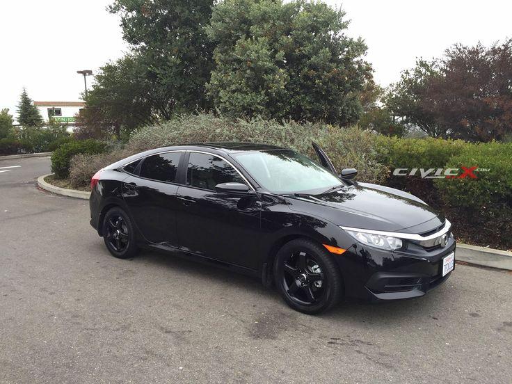 2016 Honda Civic Black Wheels in 2020 Honda civic 2016