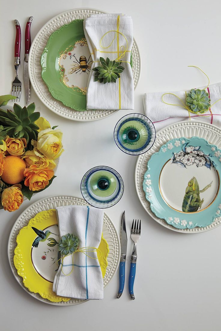 Love the Dinner Plates set and table top setting