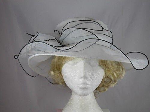 30% OFF - Organza Two Tone Wedding Hat