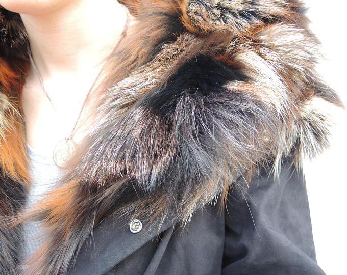 veste parka en fourrure