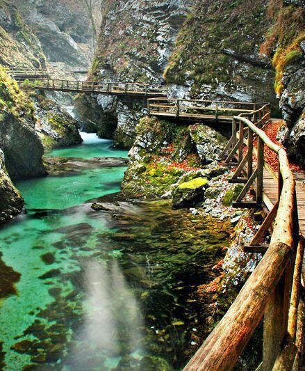 Vintgar Gorge near Lake Bled Slovenia