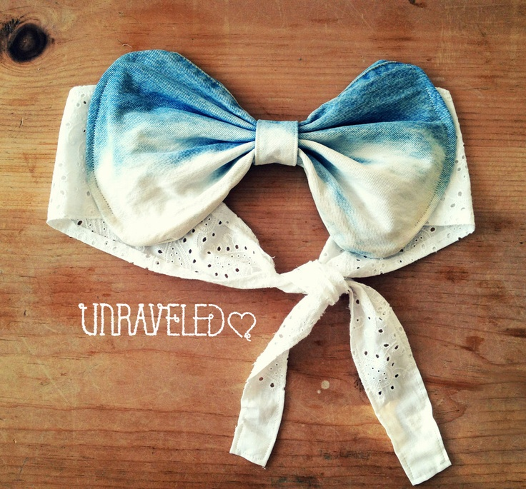 Ombre denim Bow Bandeau Top #Unraveledclothing