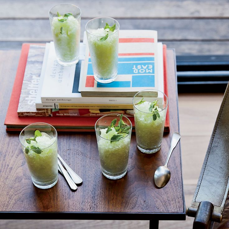 This supereasy fresh melon granita has only five ingredients. Get the recipe on Food & Wine.