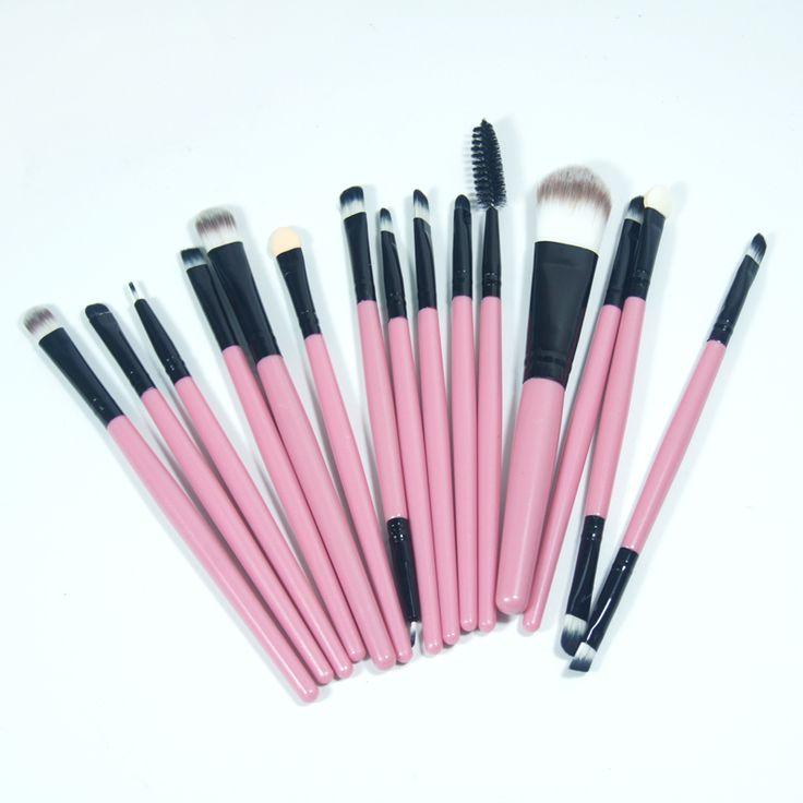 Pro 15 stks/sets Make Up Borstel Set Oogschaduw Foundation Wenkbrauw Lip Brush Up Kwasten Gereedschap Cosmetische Kits voor make